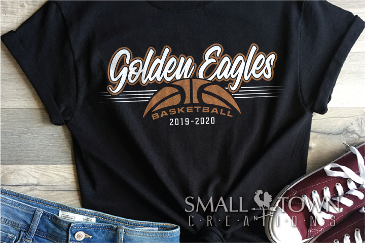 Golden Eagles, Basketball, Sport, Design, PRINT, CUT, DESIGN