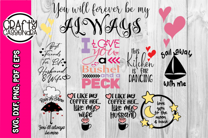 Quotes about love svg - Bundle - Valentines day - wedding