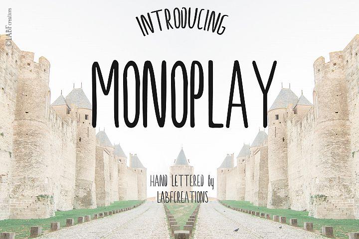 Monoplay. Minimalist Sans Serif font