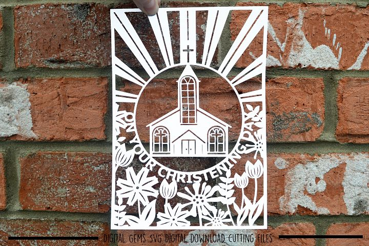 Christening paper cut SVG / DXF / EPS files