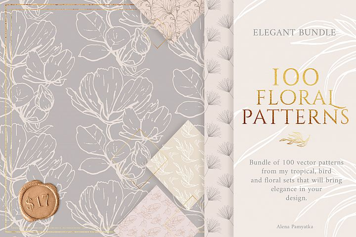 BUNDLE!!! 100 floral patterns!