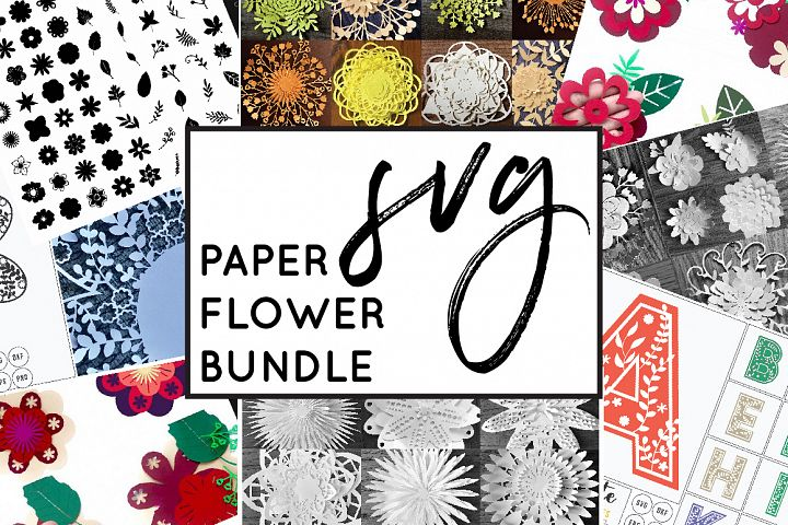 Paper Cutting Flowers MEGA BUNDLE SVG Cut Files - Paper Cut