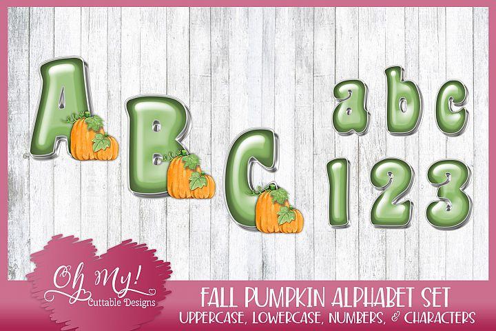 Fall Pumpkin Alphabet Bundle Clipart Graphics
