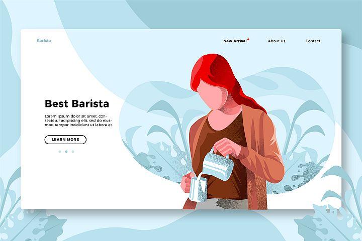 Coffee Barista - Banner & Landing Page