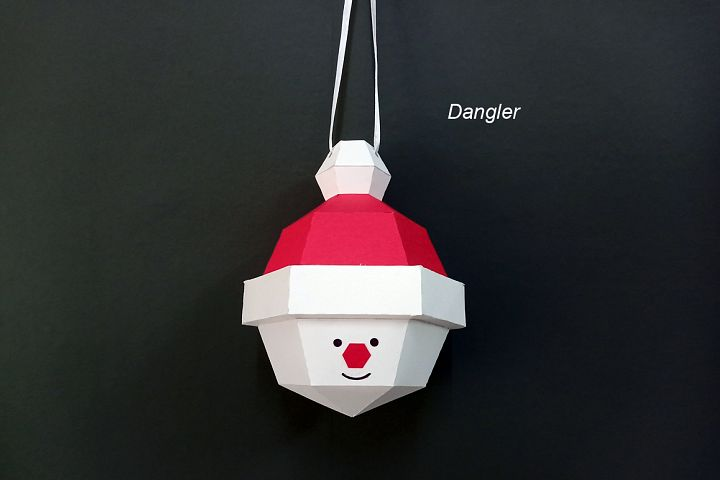 DIY Christmas bauble Santa Claus - 3d papercraft