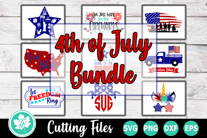 4th of July Bundle - American SVG Cut Files