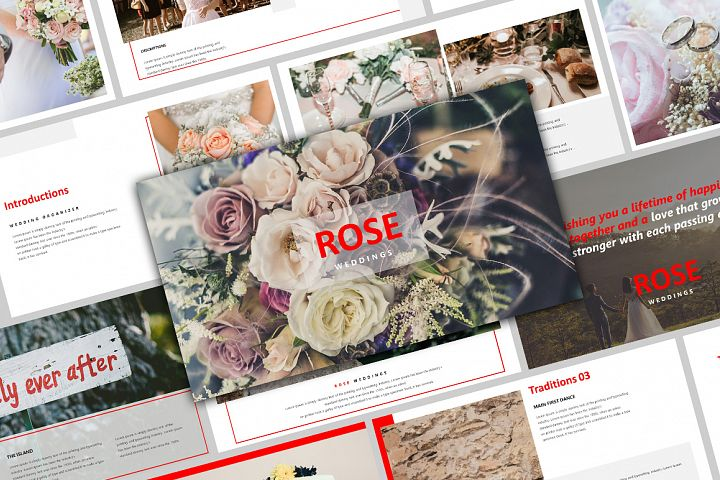 ROSE - Creative Wedding Powerpoint Template