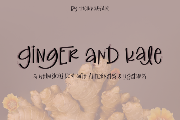 Ginger and Kale - a fun whimsical font