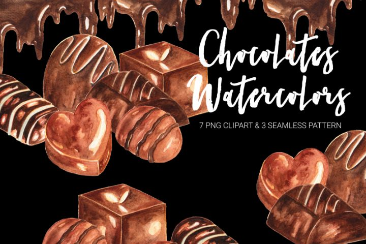 Chocolates Watercolor Clipart