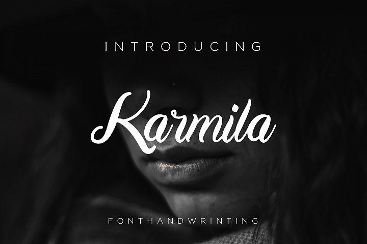 Karmila Font Script