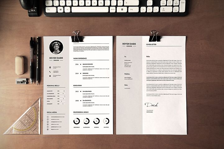 Clean Resume Template, MS Word & Photoshop Template