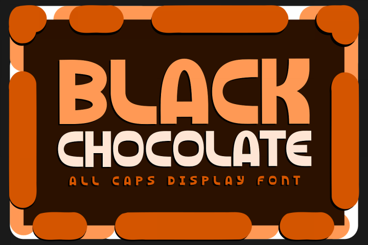 Black Chocolate Display Font