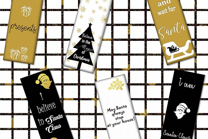 Christmas Digital Bookmarks,Christmas Printable,Christmas