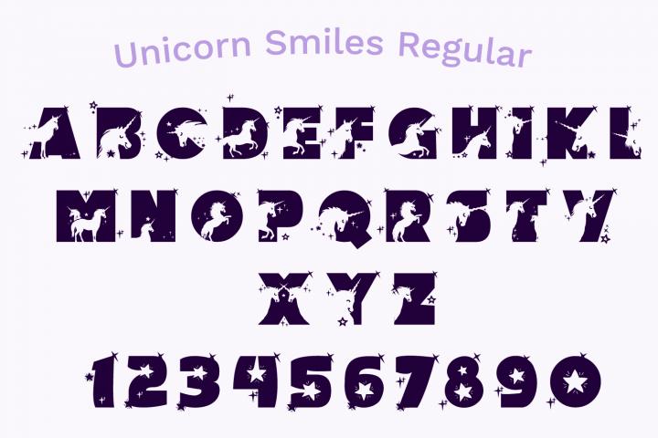 Unicorn Smiles Layered Font plus Bonus Files | Unicorn Font example image 4