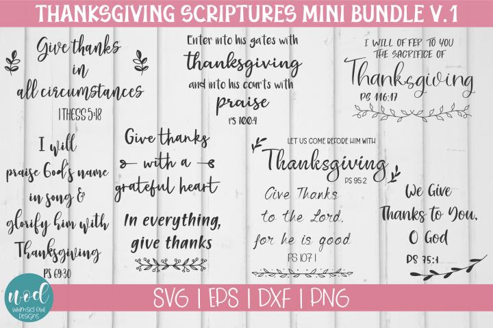 Thanksgiving Scripture SVG Bundle Vol 1