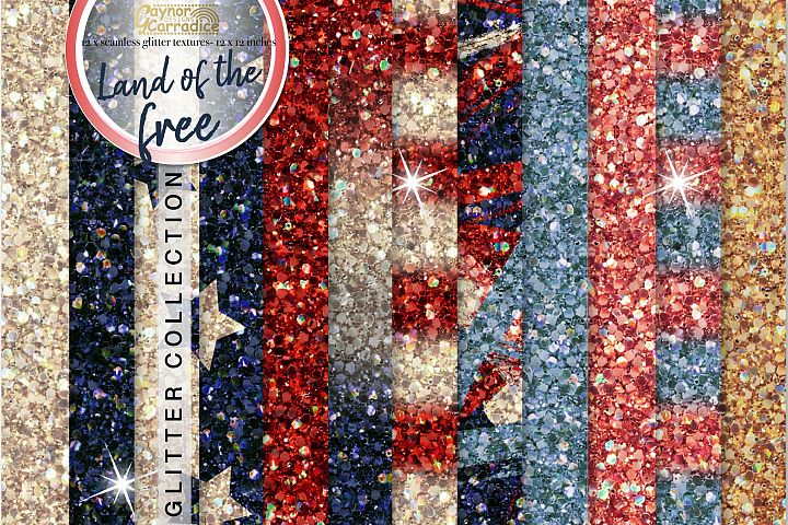 4th of July seamless Glitter backgrounds