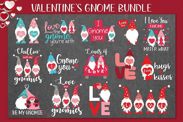 Valentines Gnome Bundle , Valentines svg, Gnome Svg