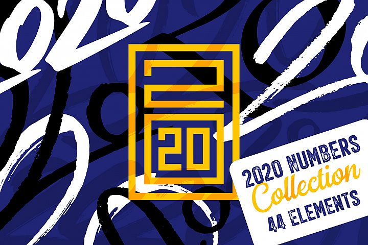 2020 Numbers Lettering Set