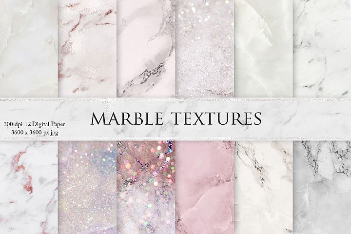Valentines Day Rose Marble Textures