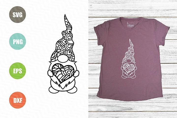 Gnome Zentagle SVG, Gnome Mandala SVG