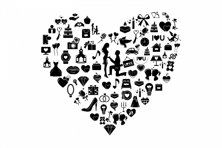 Wedding & Love Vector Icons