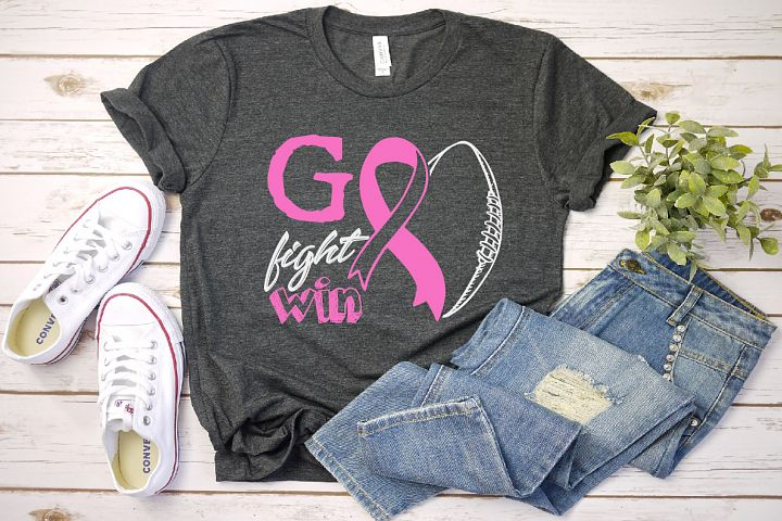 Go fight cure, tackle cancer SVG