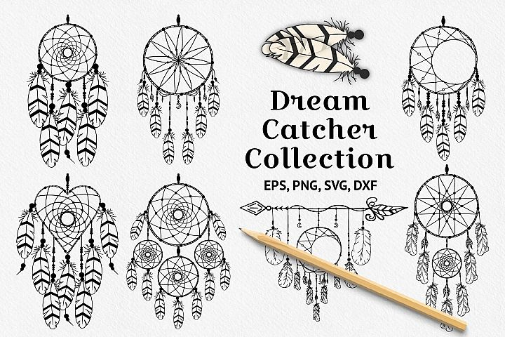 Hand drawn dream catcher designs and dream catcher creator.