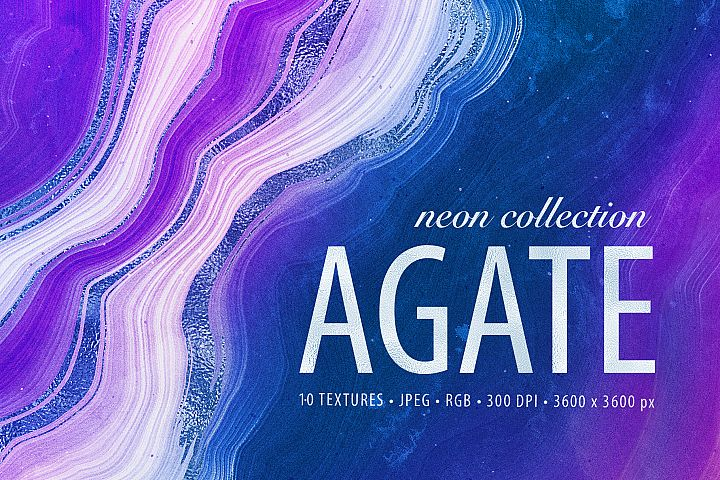 Neon Agate Stone Textures