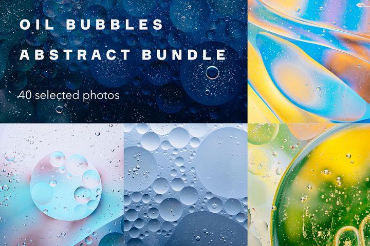 Oil bubbles abstract bundle