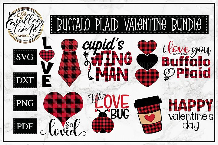 Valentines Day SVG Bundle - A Buffalo Plaid Bundle