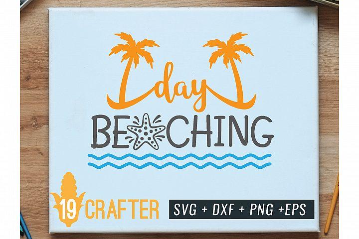 day beaching summer printable svg cut file