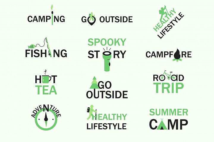 Camping and healthy lifestyle concepts