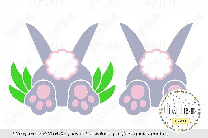 Bunny Bum SVG, Easter Rabbit tail craft cut files