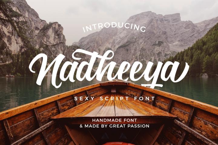 Nadheeya Script Font