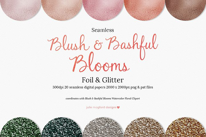 Blush & Bashful Blooms - Foil & Glitter