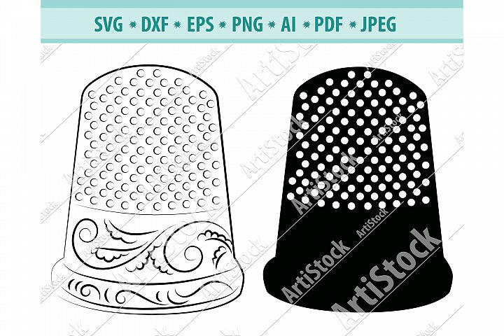 Thimble svg, Thimble clipart Svg, Sewing Svg, Dxf, Png, Eps