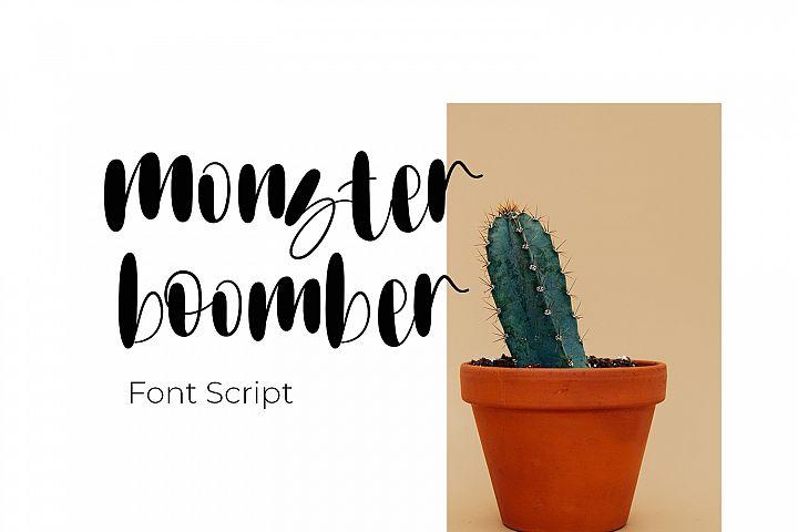 Monster boomber - Font Script