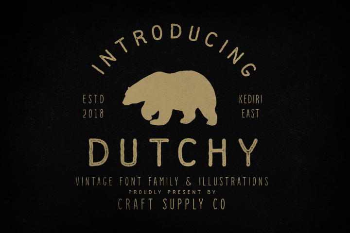 Dutchy - Vintage Type Family with Extras