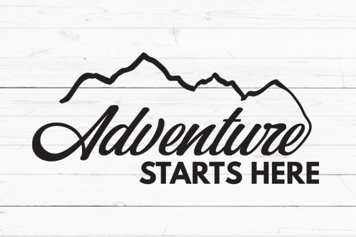 Adventure starts here svg, cricut sign svg, inspirational quote svg, cutting file, svg file, positive quote, travelling quote