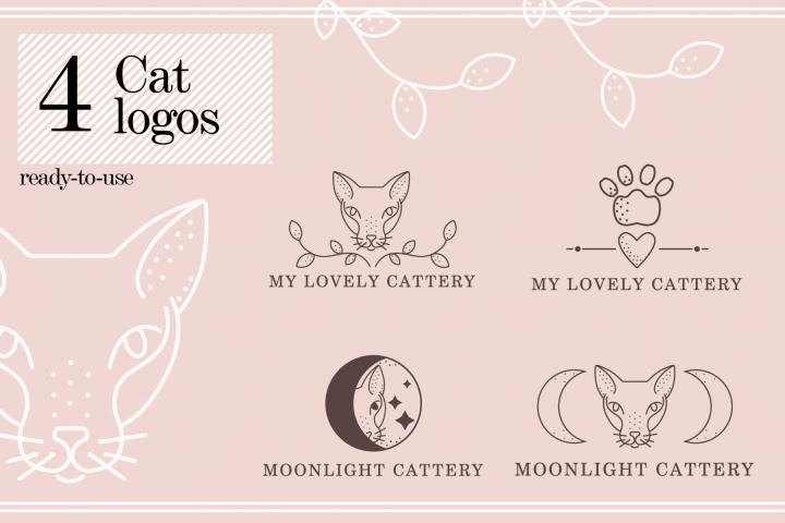 4 Cat Logos