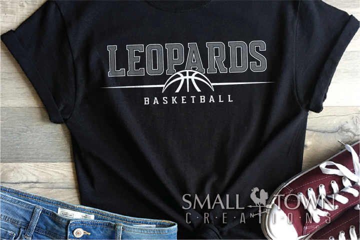 Leopard, Basketball, Sport, Team, Logo, PRINT, CUT, DESIGN