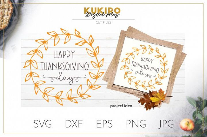 Happy Thanksgiving Day SVG Cut file - Fall SVG