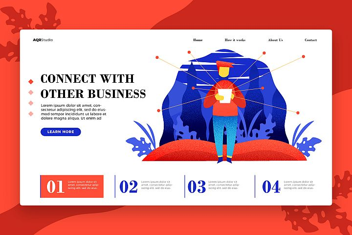 Business Connection - Banner & Landing Page