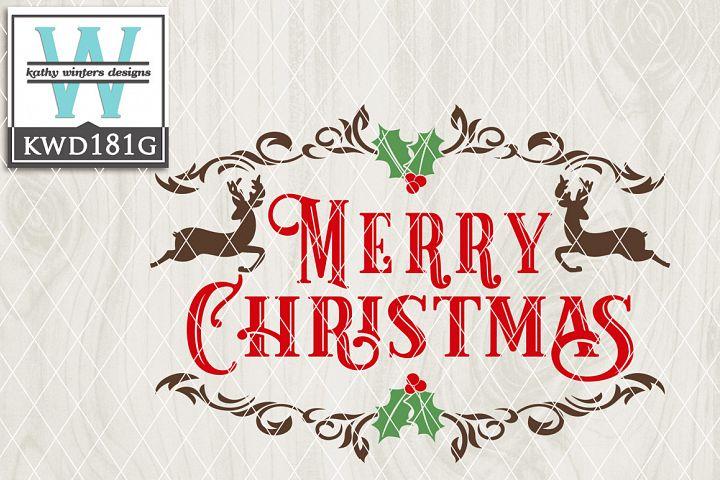 Christmas SVG - Merry Christmas KWD181G