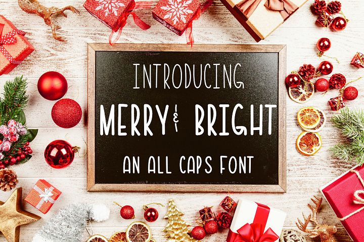 Merry & Bright All Caps Font