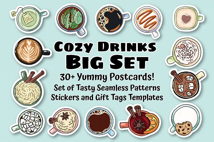 Cozy Drinks & Warming Postcards Set