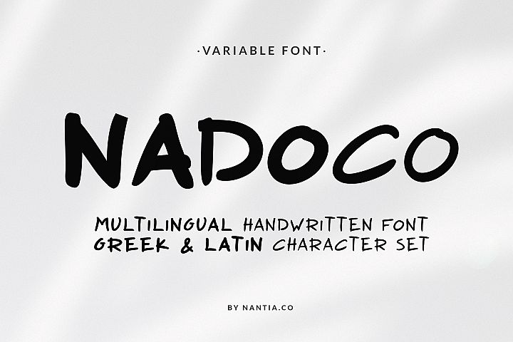 Nadoco Variable Handwritten Font