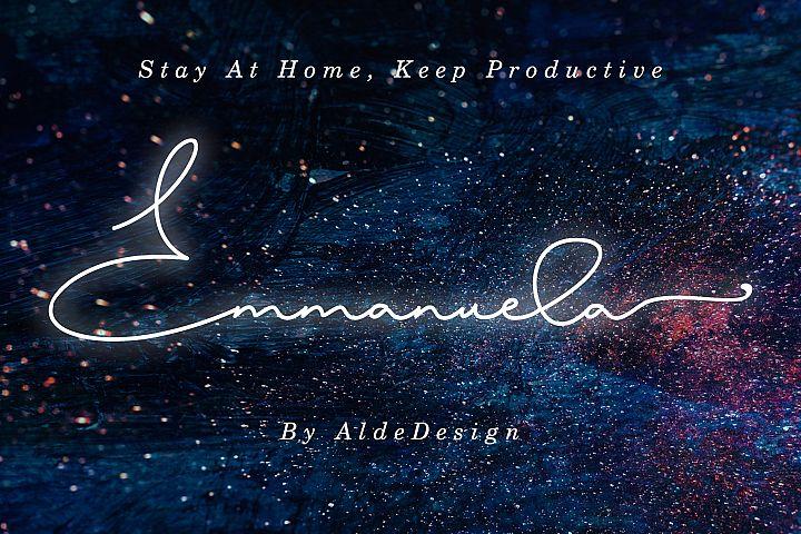 Emmanuella Signature Font