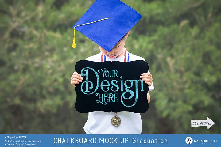 Chalkboard Mock up for school, graduation styled photo