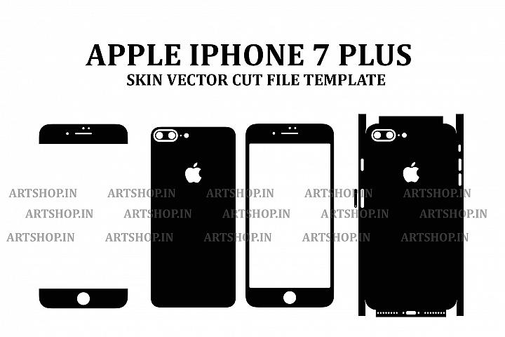 Apple iPhone 7 Plus Vinyl Skin Vector Cut File